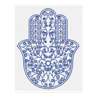 hamsa*tunis*morocco*henna*blue tarjeta postal