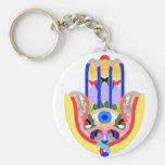 Hamsa - very colorful keychains