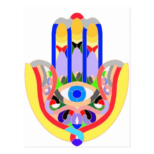 Hamsa - very colorful post cards