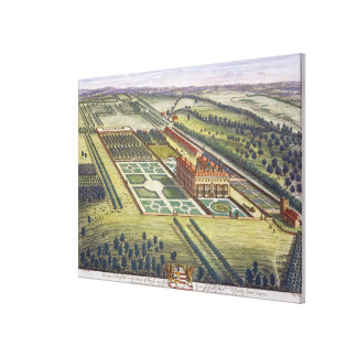 Hamstead Marshall in the county of Berkshire engra Canvas Print
