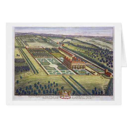 Hamstead Marshall in the county of Berkshire engra Greeting Card