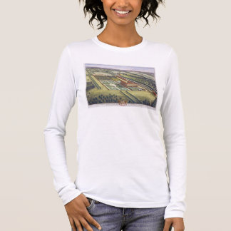 Hamstead Marshall in the county of Berkshire engra Long Sleeve T-Shirt
