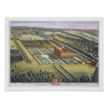 Hamstead Marshall in the county of Berkshire engra Print