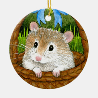 Hamster 14 ceramic ornament