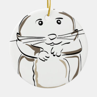hamster-1530675 ceramic ornament