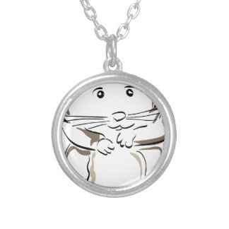 hamster-1530675 silver plated necklace