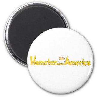 Hamster Across America Magnet