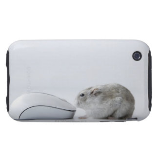 Hamster and Computer mouse Tough iPhone 3 Cover