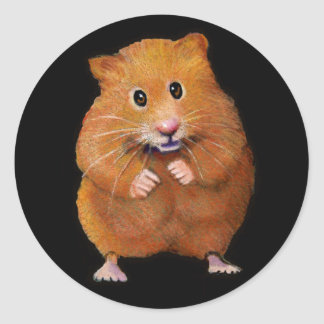 HAMSTER: ART ON BLACK: COLOR PENCIL STICKERS