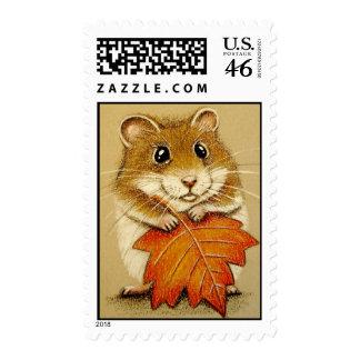 Hamster & Autumn Leaf Postage
