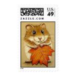 Hamster & Autumn Leaf Stamps