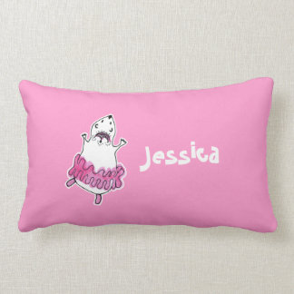Hamster Ballerina Lumbar Pillow-Pink