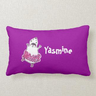 Hamster Ballerina Lumbar Pillow pink fuchsia
