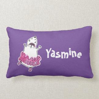 Hamster Ballerina Lumbar Pillow purple pink