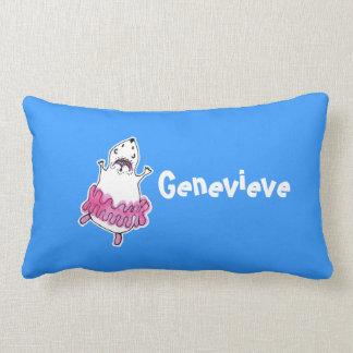 Hamster Ballerina Name Lumbar Pillow-Blue