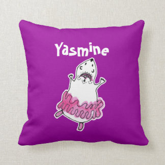 Hamster Ballerina Pillow pink fuchsia