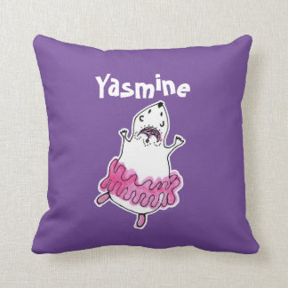 Hamster Ballerina Pillow-Purple