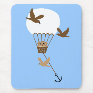 Hamster balloon adventure mouse pad
