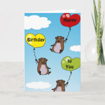 Hamster balloons, Happy Birthday to You Card