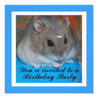 Hamster Birthday Party Invitation