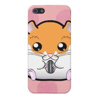 Hámster blanco anaranjado sirio regular iPhone 5 carcasas