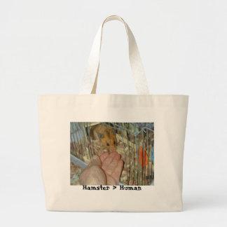 Hámster > bolso humano de la playa bolsas lienzo