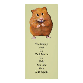 "HAMSTER BOOK MARK: ""Tuck Me In"" Card"