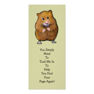 "HAMSTER BOOK MARK: ""Tuck Me In"" 4"" X 9.25"" Invitation Card"