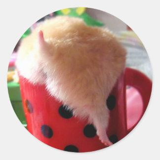 Hamster butt classic round sticker