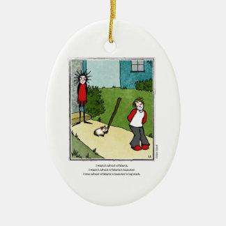 HAMSTER cartoon by Ellen Elliott Ceramic Ornament