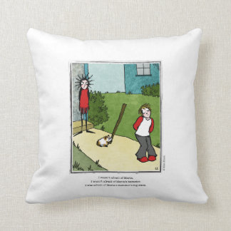HAMSTER cartoon by Ellen Elliott Throw Pillow