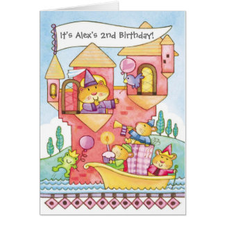 Hamster castle scene customizable invitations