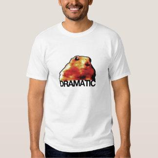 hámster/chipmunk/perro de las praderas dramáticos remeras