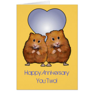 Hamster Couple, Happy Anniversary; Cutest Couple Greeting Card