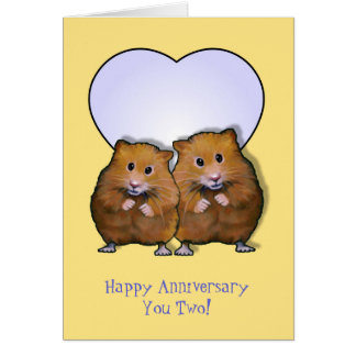 Hamster Couple, Happy Anniversary; Cutest Couple Card