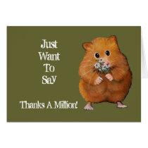 Hamster, Daisies: Thanks A Million: Artwork