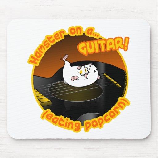 Hámster de la guitarra alfombrilla de ratón