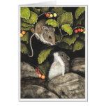 Hámster de los ratones de la fauna por la tarjeta