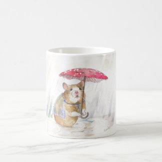 Hámster del día lluvioso taza