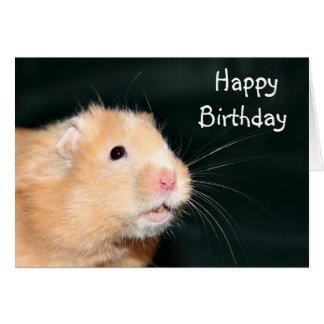Hámster del feliz cumpleaños tarjeta de felicitación
