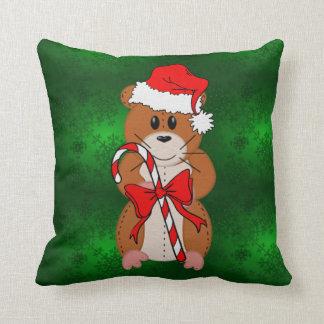 Hámster del navidad almohada