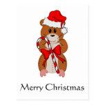 Hámster del navidad tarjeta postal