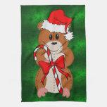 Hámster del navidad toalla