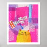 ¡Hámster! en rosa Poster