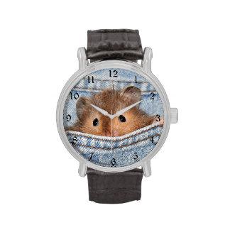 Hámster en tejanos relojes