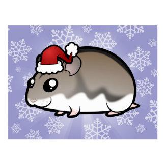 Hámster enano del navidad tarjetas postales