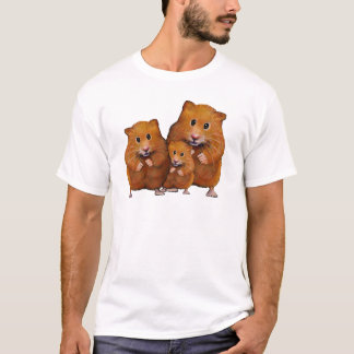 Hamster Family of Three: Cute: Color Pencil T-Shirt