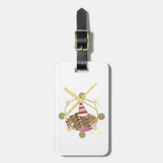 Hamster Ferris Wheel Luggage Tag