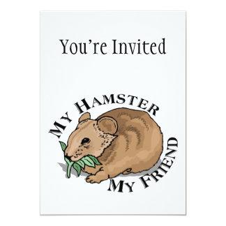 Hamster Friend 5x7 Paper Invitation Card