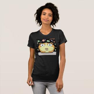 Hamster ( Grey/Black Bg) Fine Jersey T-Shirt